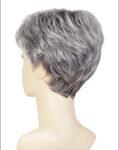 CHROMERT1B Gray & White with 25% Medium Brown Blend & Off-Black Roots