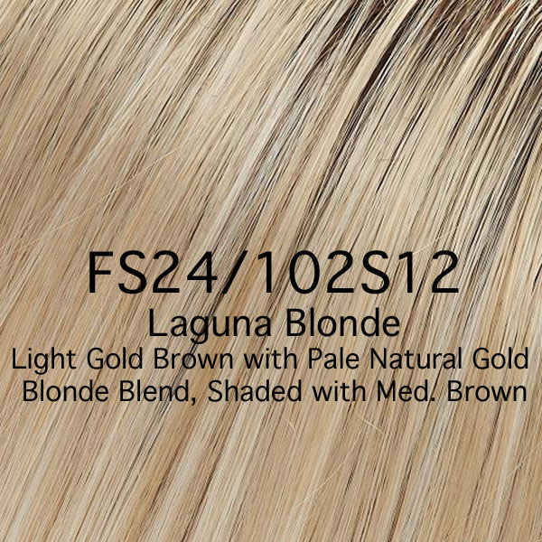 FS24/102S12 Laguna Blonde - Light Gold Brown with Pale Natural Gold Blonde Blend, Shaded with Medium Brown