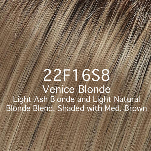 22F16S8 Venice Blonde - Light Ash Blonde and Light Natural Blonde Blend, Shaded with Medium Brown