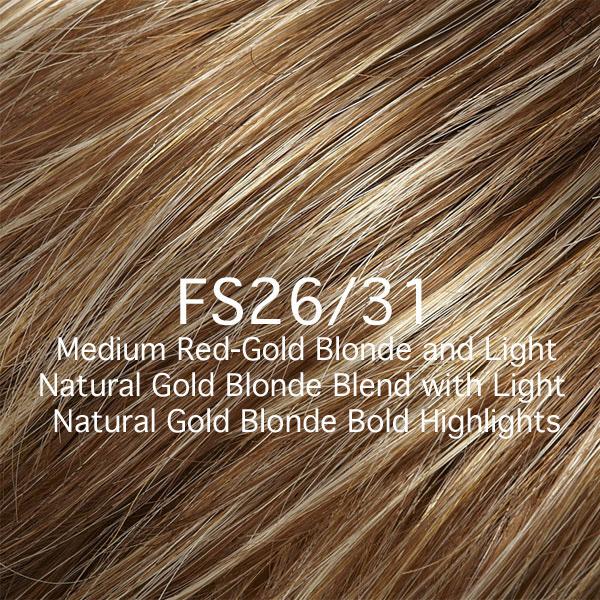 FS26/31 MEdium Red-Gold Blonde and Light Natural Gold Blonde Blend with Light Natural Gold Blonde Bold Highlights