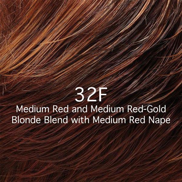 32F Medium Red and Medium Red-Gold Blonde Blend with Medium Red Nape