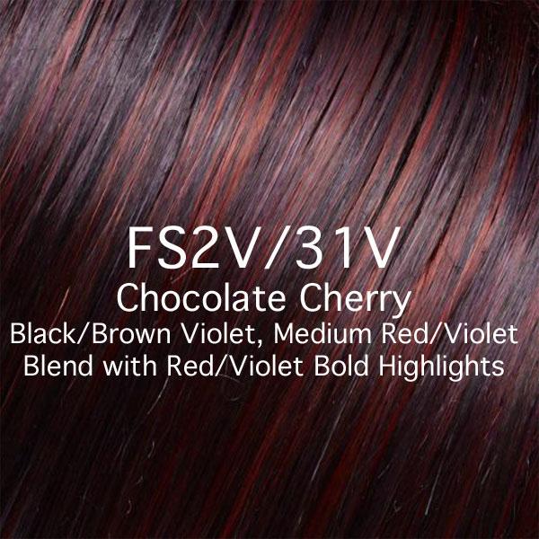 FS2V/31V Chocolate Cherry - Black/Brown Violet, Medium Red/Violet Blend with Red/Violet Bold Highlights
