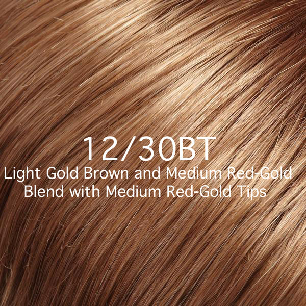 12/30BT Light Gold Brown and Medium Red-Gold Blend with Medium Red-Gold Tips