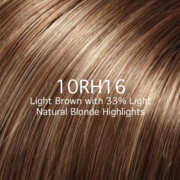 10RH16 Light Brown with 33% Light Natural Blonde Highlights