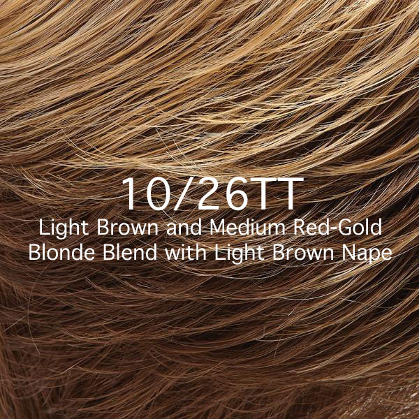 10/26TT Light Brown and Medium Brown Red-Gold Blonde Blend with Light Brown Nape