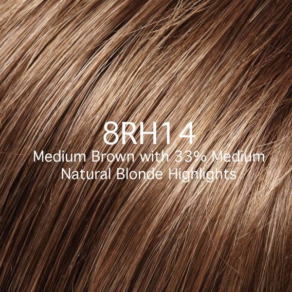 8RH14 Medium Brown with 33% Medium Natural Blonde Highlights