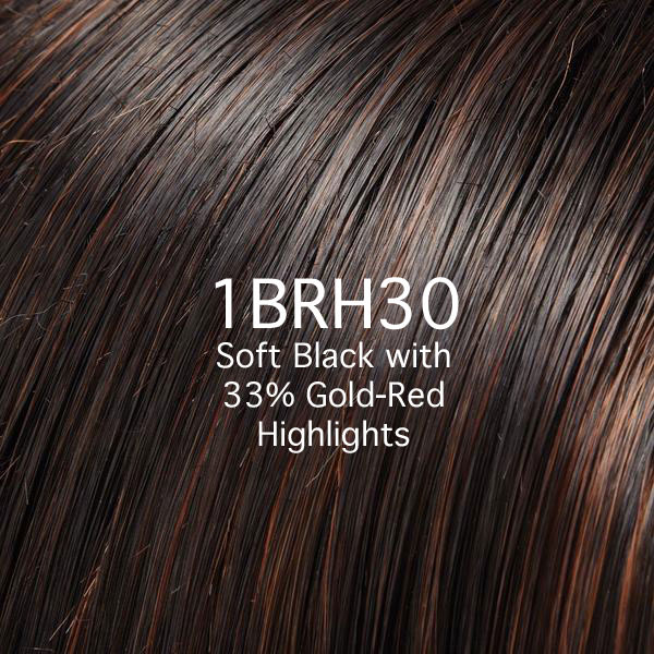 1BRH30 Soft Black with 33% Gold-Red Highlights